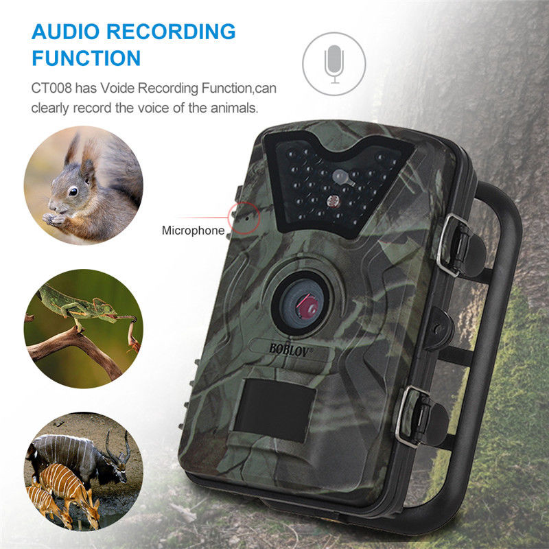 "Image 3 - Boblov CT008 Trail Game Scounting Hunting Wildlife Camera 2.4"" LCD Night Vision Digital Surveillance Photo Trap 24pcs LEDs Cam-in Hunting Cameras from Sports & Entertainment"