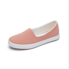 2016 Women Pregnant Canvas Shoes cloth Flats Loafers Slip On Women's Flat stripe Shoes Sapato Feminino for work