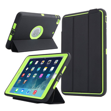 Case For iPad Mini 3/2/1 Retina Kids Shockproof Heavy Duty Full Protective Smart Case w/Auto Wake & Sleep /Screen Protector Film(China)