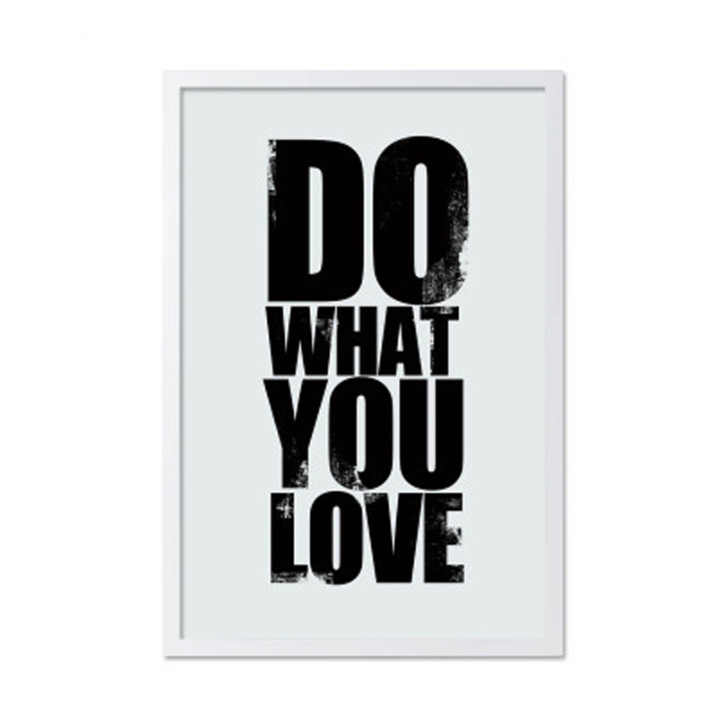LZN Canvas Art Print Poster Do What You Love Inspired Quotes Saying Wall Decor Office Home Decoration, Frames Not included image
