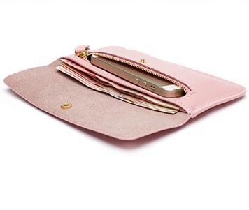 qualidade Interior : Bolsa de Zíper, note Compartment, suporte de Cartão