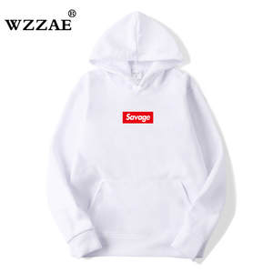 WZZAE 2018 Cotton Suprem No Hoodie Sweatshirt Hip Hop