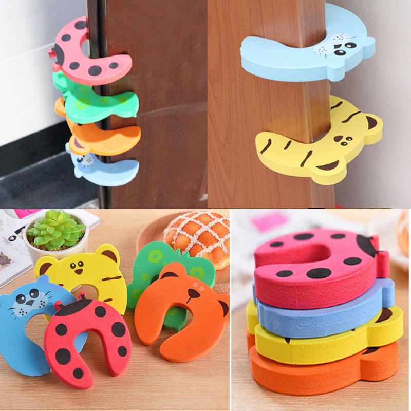 Child Safety Anti-Pinch Door Card Baby Thickened Door Plug EVA Baby Door Resistance Cartoon Door Clip Baby Protection Safety