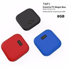 タップ 1 古典的な黒スマートセットトップボックス無線 Lan ネットワークプレーヤー S905X 1 + 8 グラム Android 6.0 スマートテレビ android ボックス