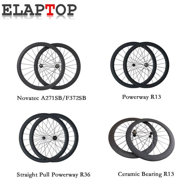 50mm straight pull 23mm width wheelset 700c ceramic bearing clincher tubular road bike carbon wheels