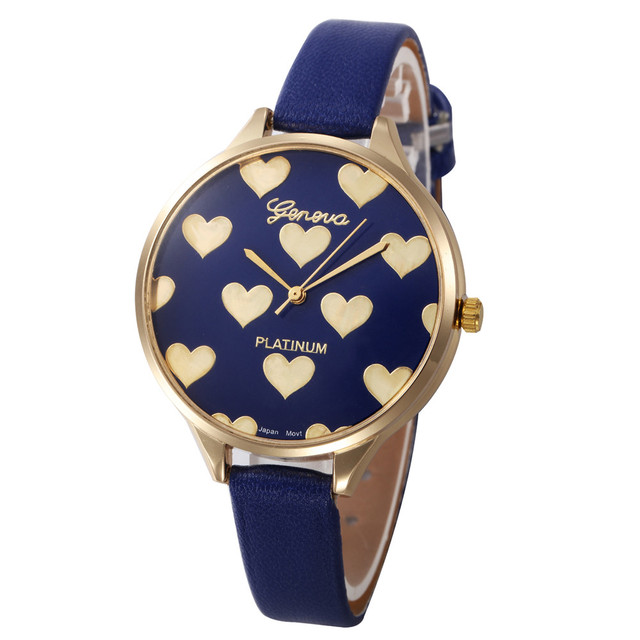Geneva Brand Simple Design Watches Women 2018 New Fashion Casual Faux Leather Qu