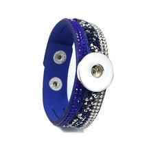 8d29b947c2b3 Estilo de rock 226 terciopelo coreano rhinestone moda retro encanto enlace  pulsera Snap button joyas para las mujeres hombres fi.