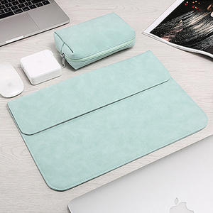 Image 4 - Matte Laptop Sleeve Bag For Macbook Air 13 A1932 11 12 15.4 New Pro 15 Touch Bar Notebook Case For Xiaomi 13.3 15.6 Scrub Cover