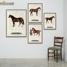 Vintage European Equestrian Club Steed carteles de caballos finos e impresiones lienzo pintura arte cuadro de pared para la decoración del hogar de la sala de estar