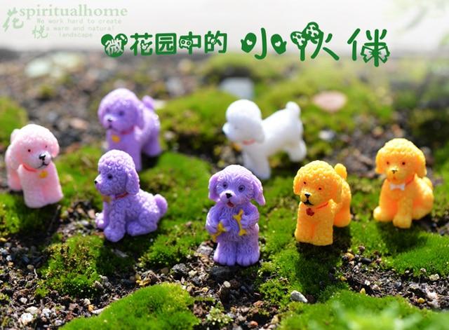 9 Stucke Lockige Welpen Hunde Miniatur Terrarium Feen Garten Figuren