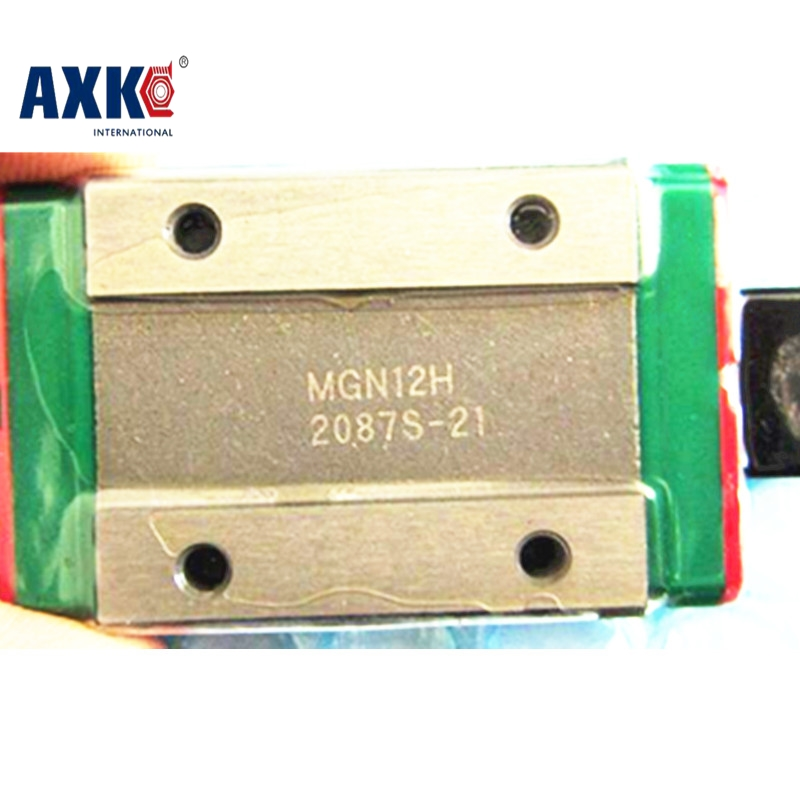 AXK NEW MGN12H linear bearing sliding block match use with MGN12 linear guide for cnc xyz diy engraving machine MGN9H MGN15H axk mr12 miniature linear guide mgn12 long 400mm with a mgn12h length block for cnc parts free shipping