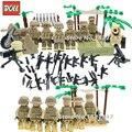 6 шт./лот пустыни Спецназа Swat Военная Строительные Блоки Модель с оружием предновогодние кирпичи подарочные игрушки Для Детей