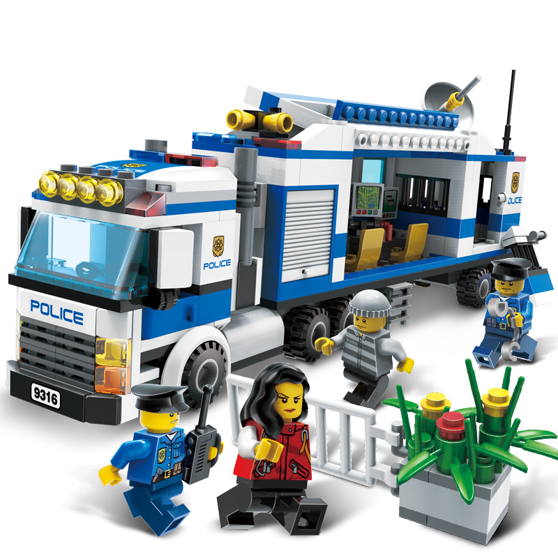 407 Teile/sätze City Polizeistation Bausteinziegelsteine Pädagogisches Jungen DIY Spielzeug Geburtstag Brinquedos Weihnachtsgeschenk Spielzeug