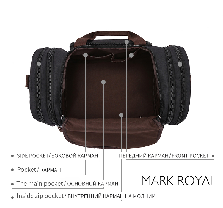 a4f2919ffe16 MARKROYAL Soft Waterproof Men Travel Bags Carry On Large Capacity Duffle  Bags Male Hand Luggage Weekend Bags 5 Colors For Women