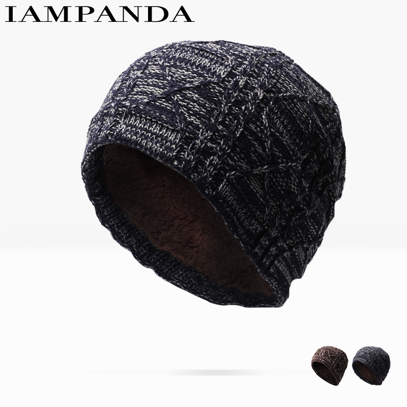 2017 New Limited Hats Men And Autumn Winter Knitting Wool Outdoors Fashion Thickening Increase Down Keep Warm Earmuffs Set Head new mf8 eitan s star icosaix radiolarian puzzle magic cube black and primary limited edition very challenging welcome to buy