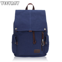Fashion Brands Drawstring Canvas Women Backbacks Vintage School Backpacks Female Shoulder Bags Travel Bag Large Laptop