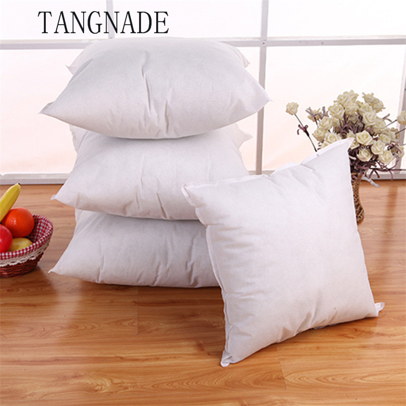 Bedding Square PP Cotton Cushion Core Pillow interior Home Decor White 45x45 CM For Car Sofa Chair Wholesale Free Shipping RA18(China)