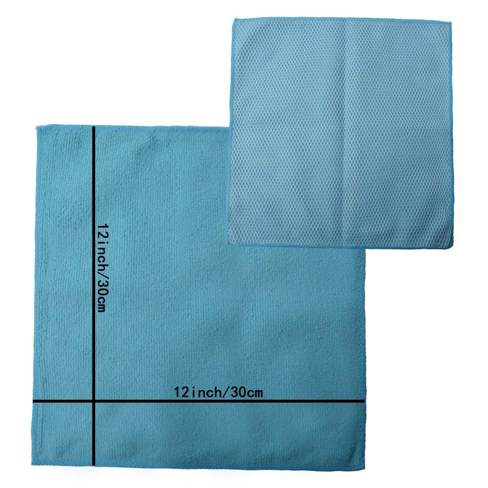 59763b005fc20 Sinland Microfiber Kitchen Dish Cloth With Poly Scour Side Kitchen Dish  Towels Cleaning Rag 5 Assorted Color 12Inx12In 10 pack -in Cleaning Cloths  from Home ...