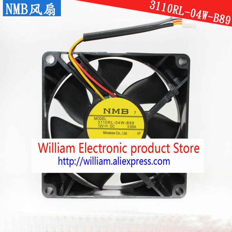 New Original NMB 3110RL 04W B89 12V 0 65A 80 80 25MM 8CM Tachometer Signal font