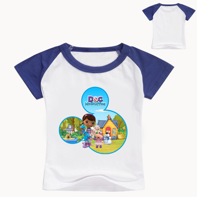 Z&Y 2-16Years Bobo Choses Doc Mcstuffins Clothes Children T-shirt Baby Girl Tops 2018 Long Sleeves T Shirt Boy Toddler Tee T005