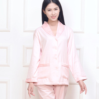 New Silk Women's Pajamas Thick Long Sleeved Warm Suite Home Service