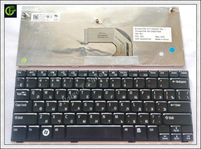 Русский RU Клавиатура для Dell Inspiron Mini10 1012 1014 1018 P04T P01T Черный клавиатура ноутбука