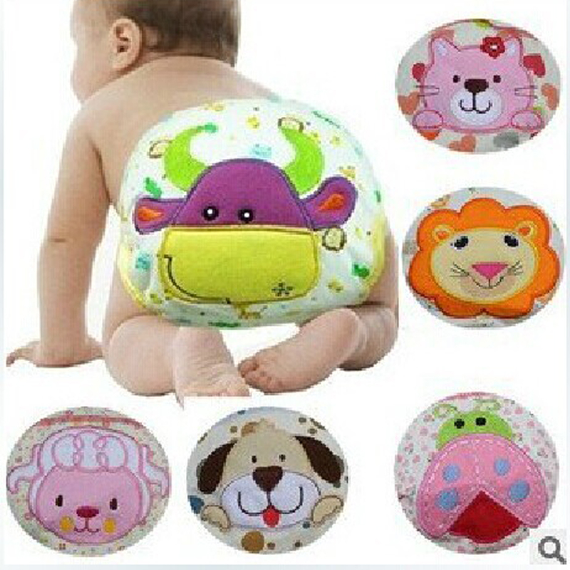 1Pcs Cute Baby Nappies Reusable Diapers Cloth Diaper Washable Infants Children Baby Cotton Training Pants Panties Nappy Changing