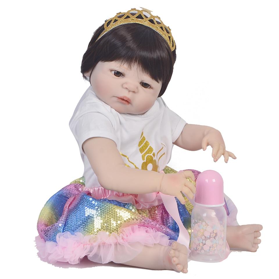 Bebe Real reborn silicone baby dolls toys 2255cm newborn girl princess doll bebe gift rebon boneca menina  lalki rebornBebe Real reborn silicone baby dolls toys 2255cm newborn girl princess doll bebe gift rebon boneca menina  lalki reborn