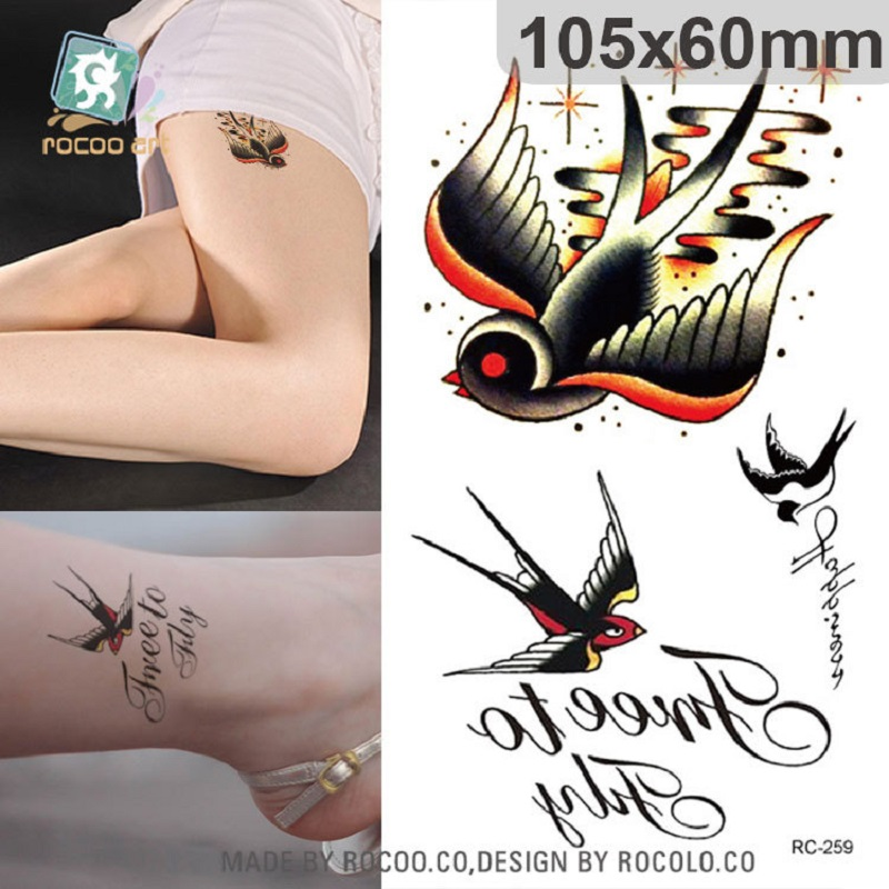 2 PCS Disposable waterproof fashion small fresh tattoo tattoo stickers and ankle RC2259-RC2283 ...