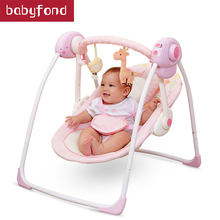 2018 new babyruler portable baby cradle newborn light music rocking chair kid game swing(China)