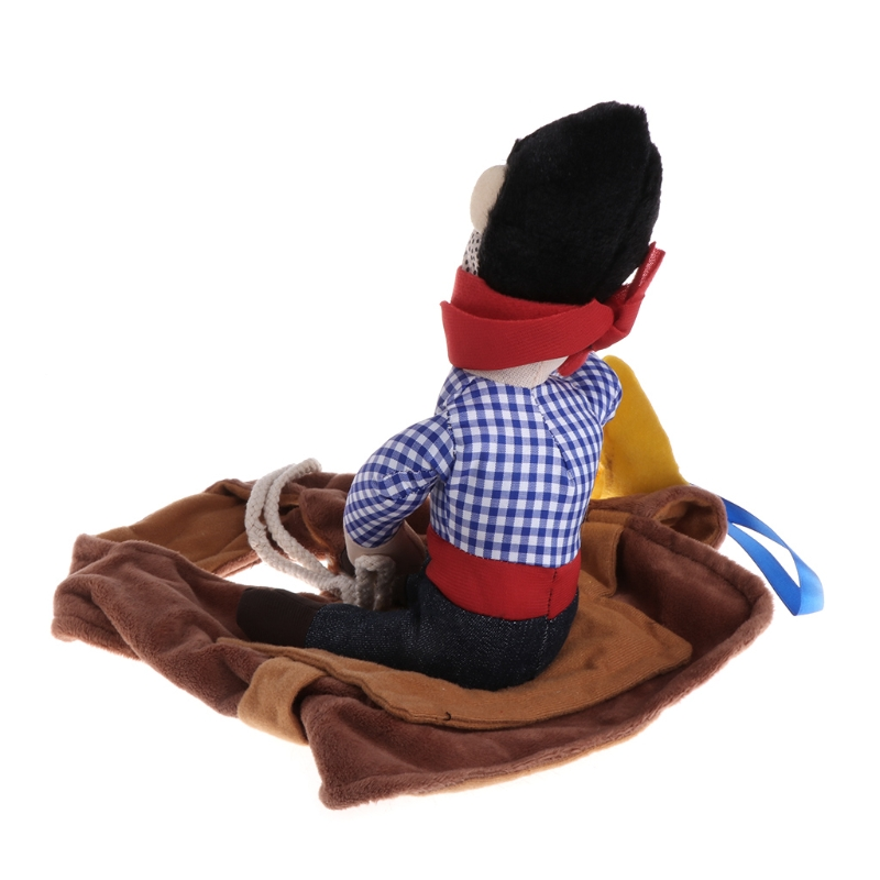 Funny Riding Horse Cowboy Pet Dog Cat Costumes Puppy Halloween Party Costume Clothes