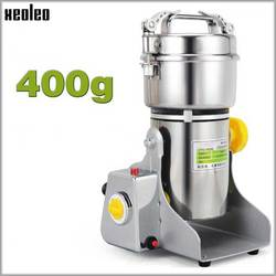 XEOLEO Grain Grind machine Electric Grain grinder Herbs/Bean grinder 400g Swing type stainless steel Grinding powder machine