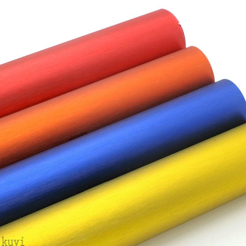 Haute qualité Drain d'air bleu rouge or Orange brossé Aluminium vinyle Film métallisé brossé voiture vinyle autocollant avec taille: 1.52x18 m