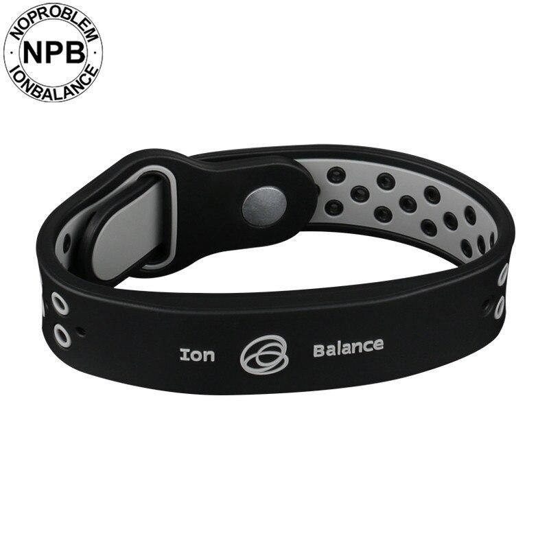 c17b6f96dda Noproblem bio health benifits ion balance power therapy silicone sports  choker tourmaline germanium wristband bracelet