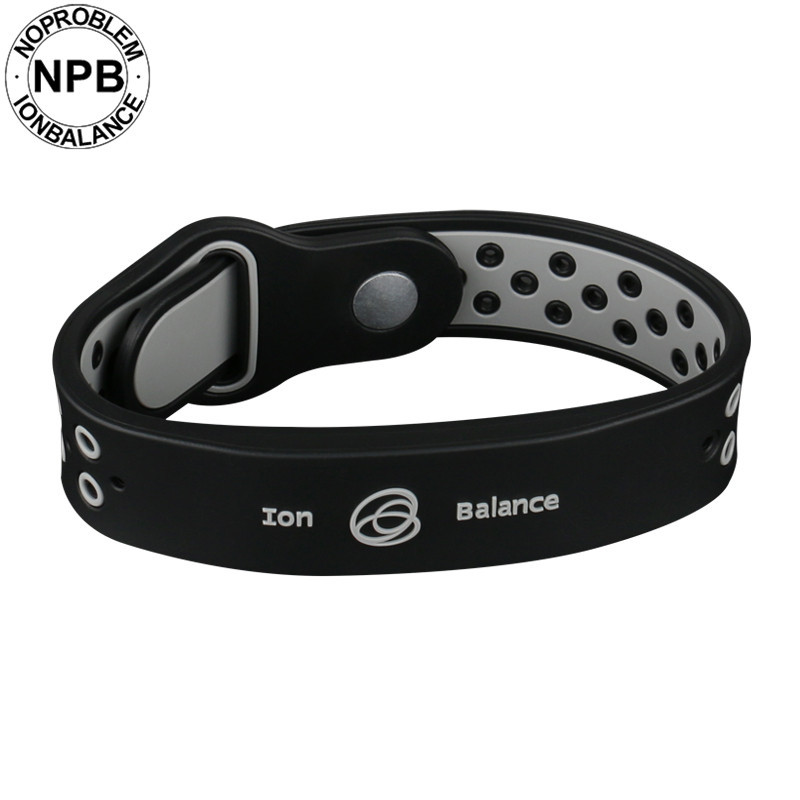 Noproblem bio health benifits ion balance power therapy silicone sports choker tourmaline germanium wristband bracelet