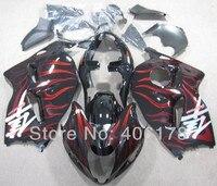 Free Shipping For Suzuki GSXR1300 96 07 Hayabusa 1996 2007 Red Flame Sport Motorcycle Bodywork Fairings