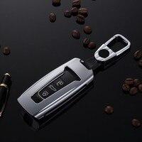 Liga De Alumínio Keychain Titular Da Tampa Do Caso Para Volkswagen Touareg carro Fob Chave Inteligente Carteira Bag Bolsa Car Styling|Estojo de chaves p/ carro| |  -
