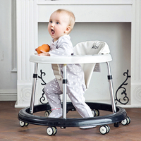 360 Degree Baby Walkers Folding Portable Toddlers Baby Toy Cars Multifunction Safe Baby Walking Learning Car 6 24 Months