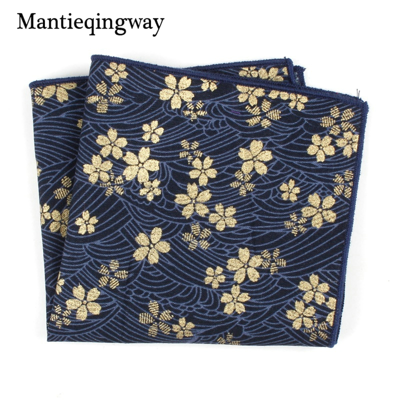 Mantieqingway Vintage Floral Printed Handkerchiefs Pocket Towel For Mens Pocket Square Small Chest Towel Hanky For Women Hankies