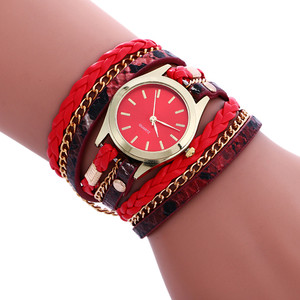 #5001Bohemian Style Fashion Weave Leather Bracelet Lady Womans Wrist Watch reloj mujer New Arrival Freeshipping Hot Sales