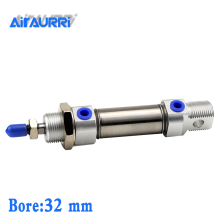 MI 32mm bore stroke 10/15/20/25/30/40/50-S-CA/U/R/CM stainless steel mini cylinder
