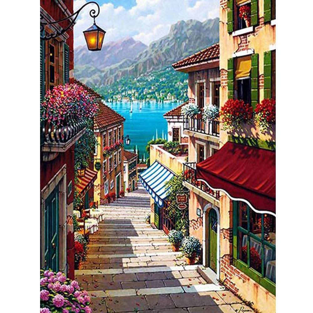 DIY PBN Arcylic живопись Венеция город фотографии по номерам на холсте в рамке настенные картины искусство для гостиной украшение дома