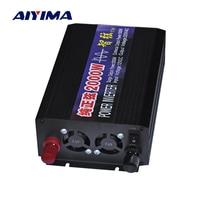 Aiyima 2000 W Чистая синусоида автомобилей Мощность инвертор DC12V/24 V/48 V к AC220V двойной цифровой дисплей Мощность усилитель конвертера для DIY