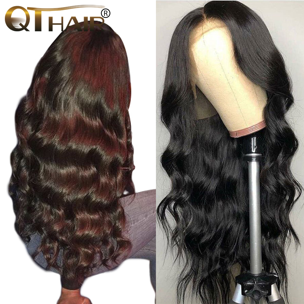 360 Lace Frontal Wig Pre Plucked With Baby Hair Brazilian Body Wave Human Hair Wigs QT Remy Hair Lace Front Wigs