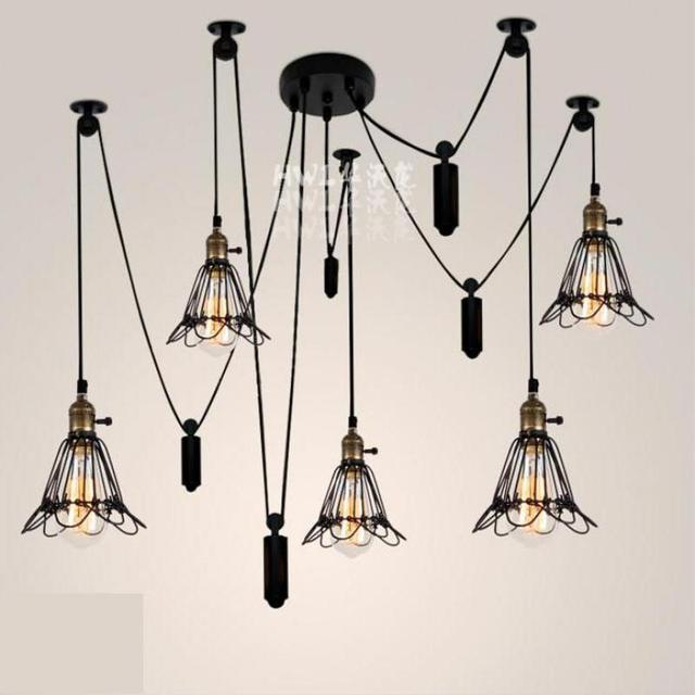 Antique 5 6 Pcs Latin American Style Dining Room Hanging Pendant Lights E27 Up