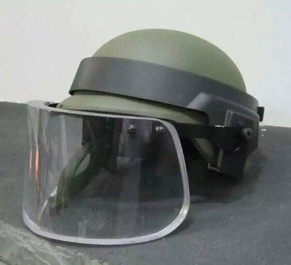 Бронешлем с забралом для M88 шлем с сплав Сталь прикрепляющиеся круглые баллистическая защитная маска для шлем MICH Личная самооборона оружия - 6