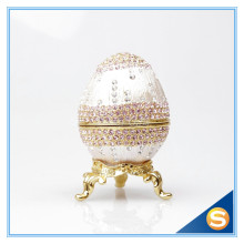 Egg Faberge Decorative Jewelry Box with Czech Crystal Decoration Easter Gifts