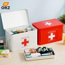 лучшая цена Multi-layered Family Medicine Metal Medical Box Medical First Aid Storage Box Storage Medical Gathering