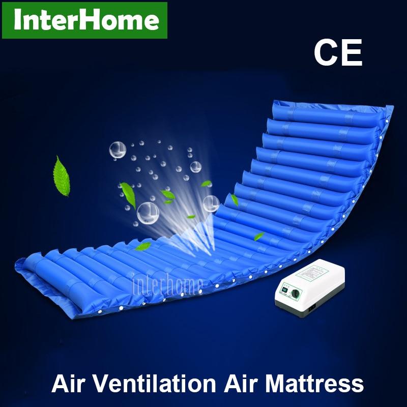 air ventilation pneumatic alternating pressure air mattress cushion prevent bedsores decubitus for bedridden elderly or patient