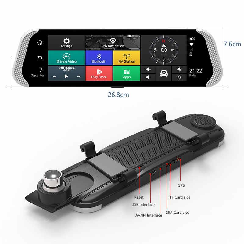 """Fansicouk 10 """"Android 4 г зеркало заднего вида Автомобильный dvr FHD 1080 P ADAS gps два видеорегистратора DVRs авто камера регистратор видео регистраторы"""